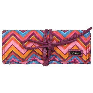 Find a Cassandra Zigzag Coated Roll Jewelry Pouch By Hadaki