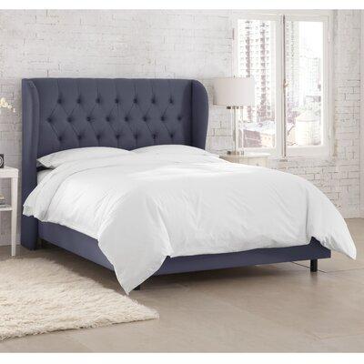Kingsville Upholstered Standard Bed Color: Twill Navy, Size: King
