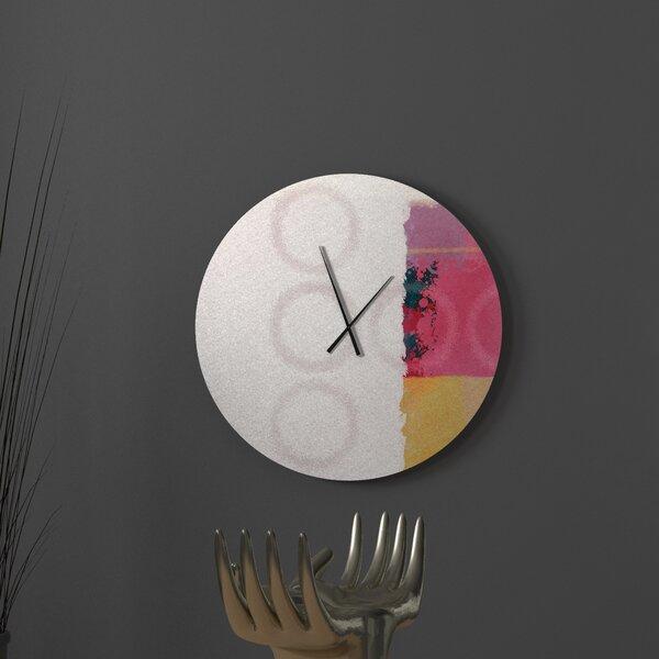 Latitude Run Angelic Alright Abstract Metal Wall Clock Wayfair