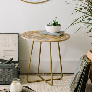 Holli Zollinger Jungle Tiger Linen End Table by East Urban Home