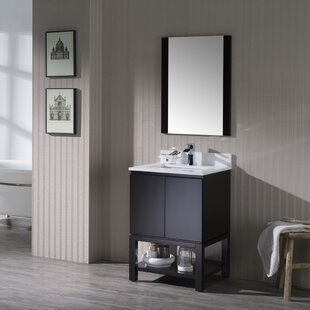 Maly 14 Single Bathroom Vanity Set with Mirror by Orren Ellis