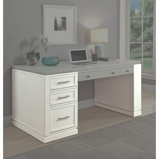 Odom Power Center And USB Charging Port Writing Desk by Rosecliff Heights #1