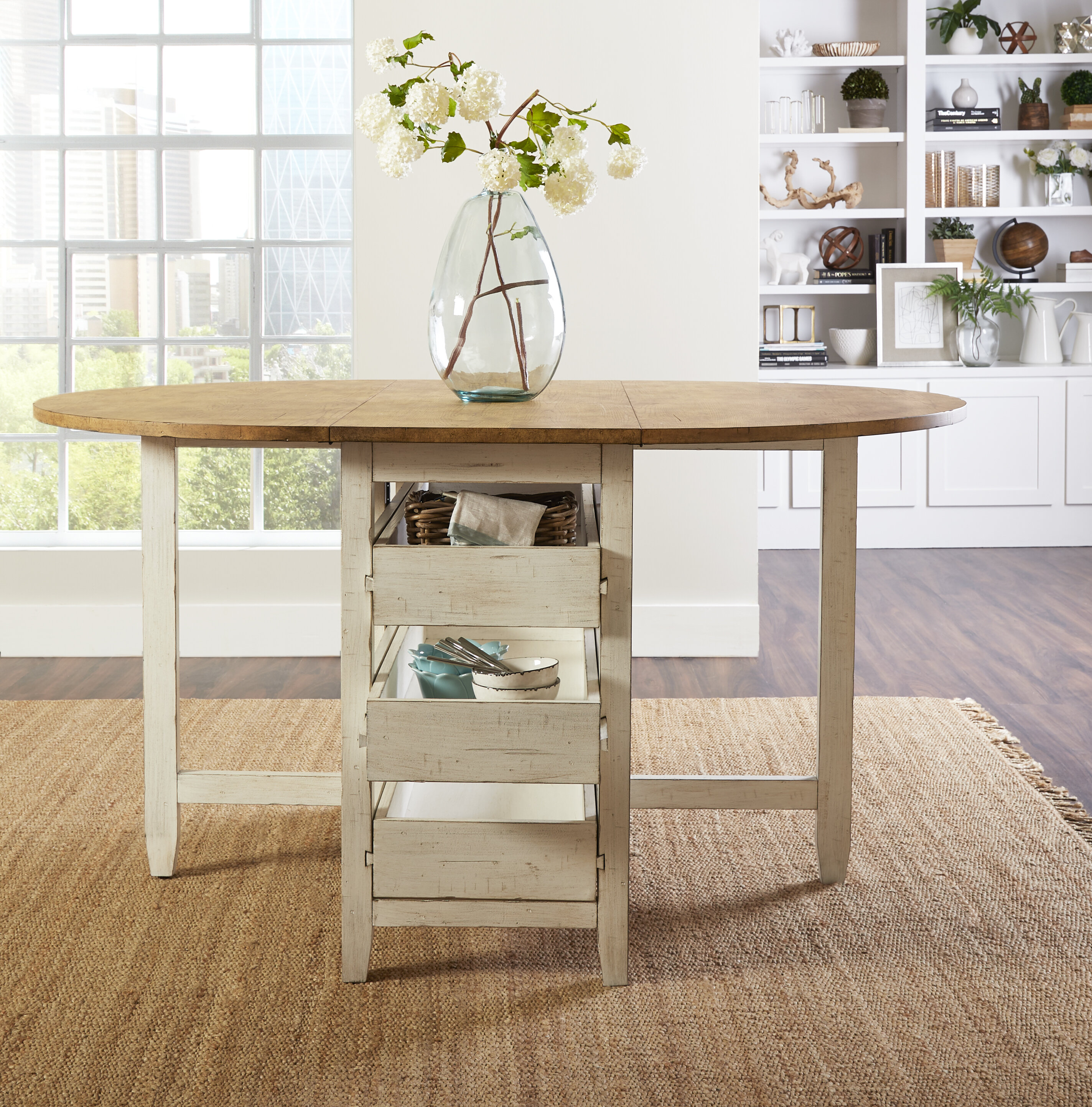 Coming Home Counter Height Drop Leaf Dining Table