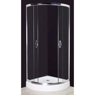 80cm W x 80cm D x 194cm H Shower Enclosure with Curved Door by dCor design