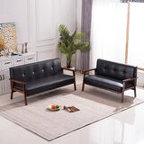Harvill 2 Piece Faux Leather Living Room Set by Corrigan Studio®