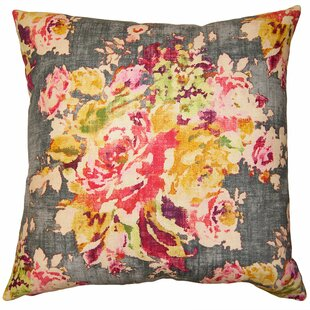 Rainbow Floral Pillow