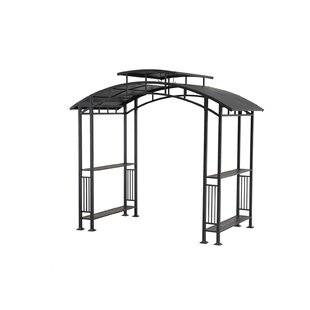 Bar Harbor 5 Ft. W x 8 Ft. D Steel Grill Gazebo by Sunjoy