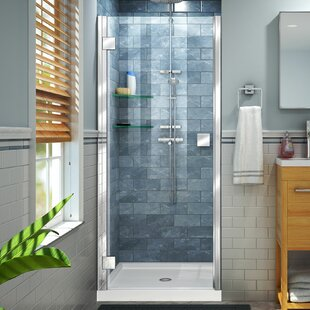 Reviews Lumen 35 x 66 Hinged Semi-Frameless Shower Door ByDreamLine