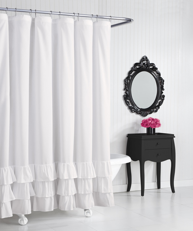 Betsey Johnson Solid Ruffled Shower Curtain Reviews Wayfair