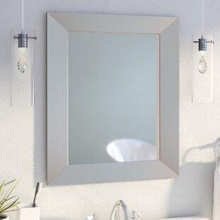 Mercury Row Modern Rectangle Wood Wall Mirror