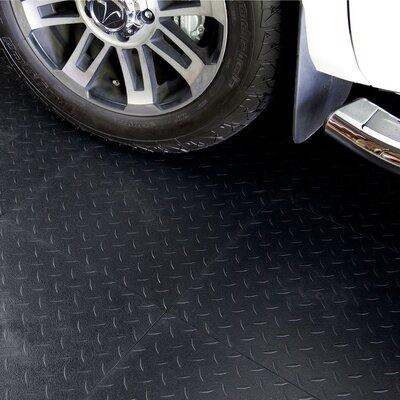 "18"" X 18"" Multi-purpose Flexible Pvc Diamond Pattern In Black Blocktile"