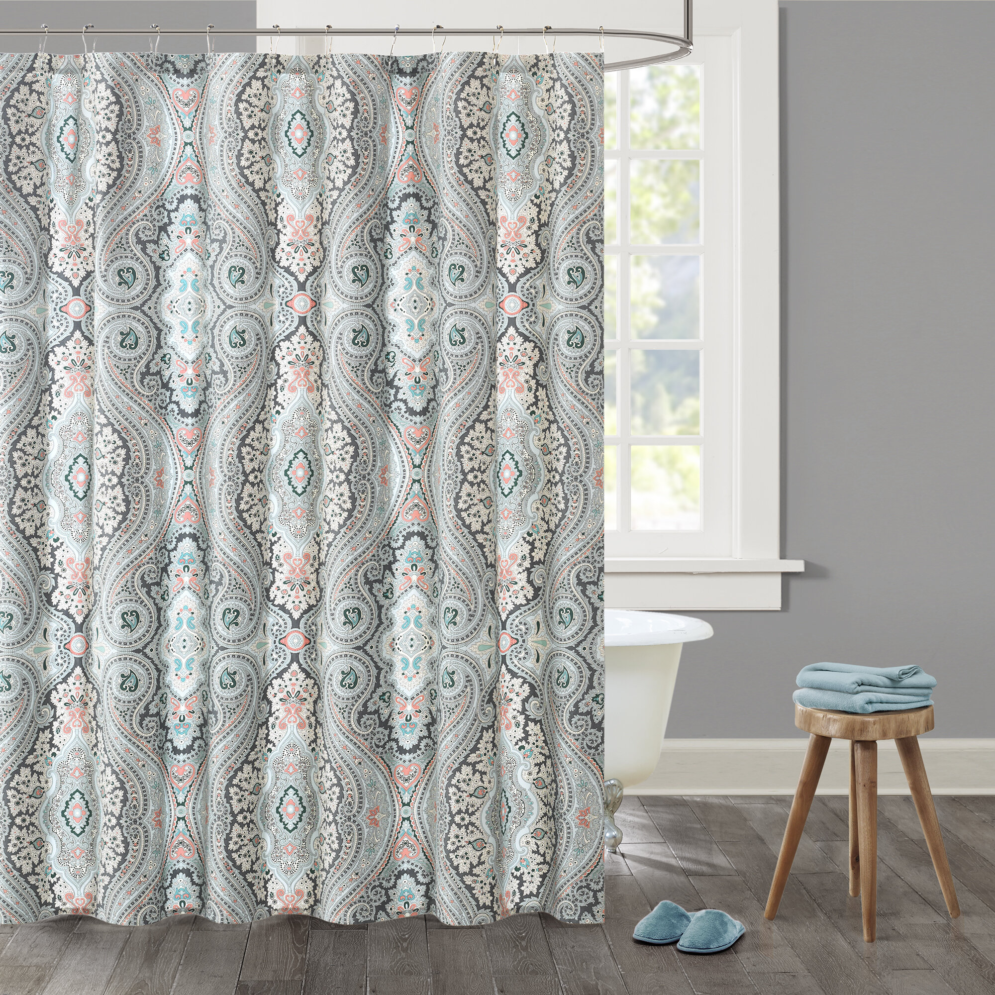 Echo Design Sterling Cotton Single Shower Curtain Reviews