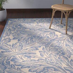 Amaryllis Natural/Blue Indoor/Outdoor Area Rug
