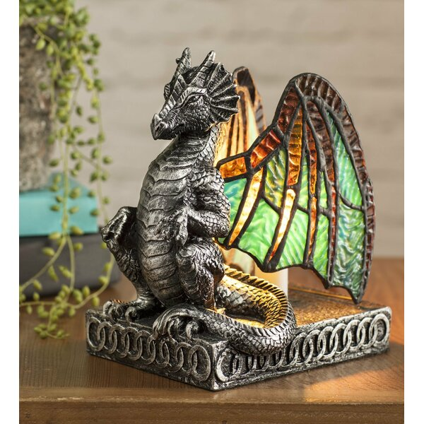 Wind weather lighted stained glass dragon 9 table lamp reviews wind weather lighted stained glass dragon 9 table lamp reviews wayfair aloadofball Choice Image