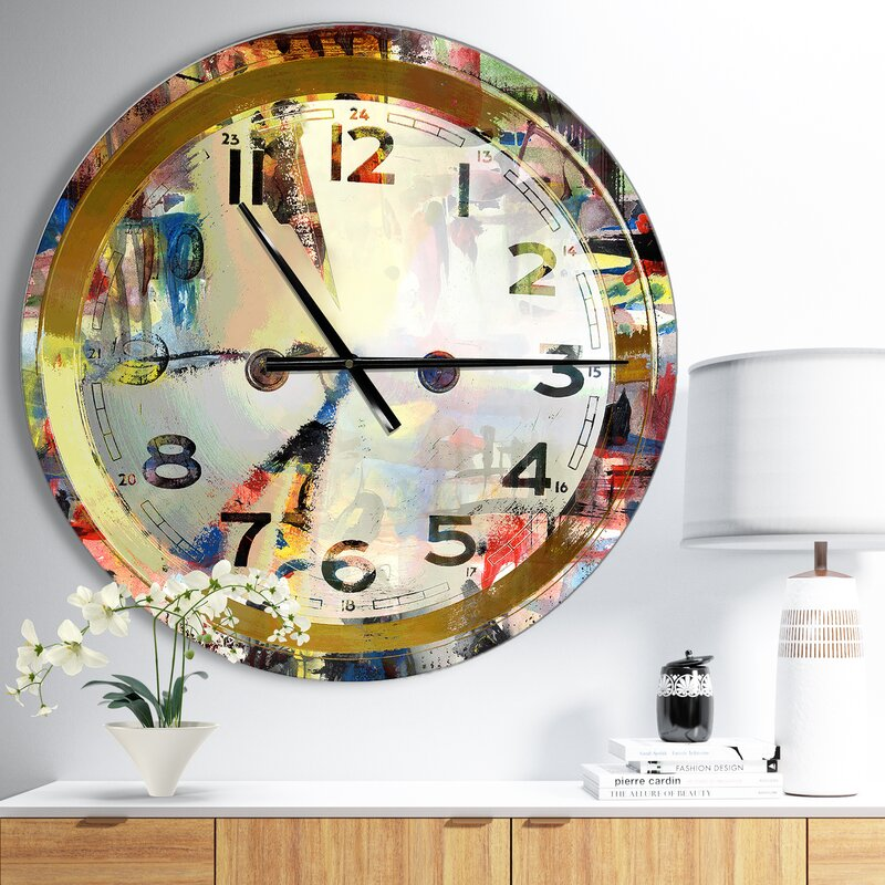 Ivy Bronx Oversized Wall Clock Reviews Wayfair