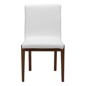 Jacquelyn White Leatherette Side Chair (Set of 2) by Brayden Studio