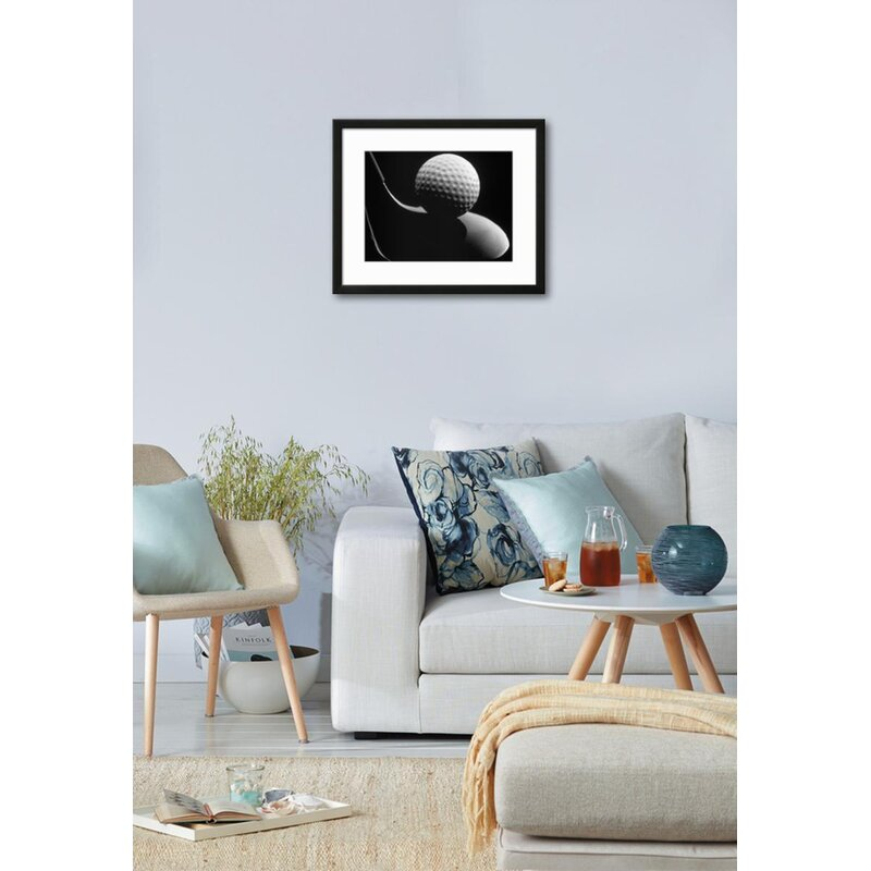 Wrought Studio \'Golf Club and Golf Ball\' Framed Graphic Art Print ...