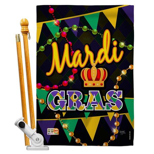 Breeze Decor Mardi Gras Spring Impressions Decorative