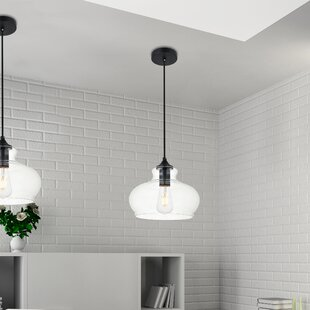 Cerys 1-Light Dome Pendant by Three Posts