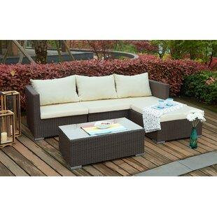 Gerhardt 3 Seater Rattan Corner Sofa Set By Sol 72 Outdoor