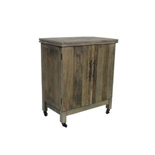 Solon Butler Bar 2-Door Folding Top Kitchen Cart by Bungalow Rose