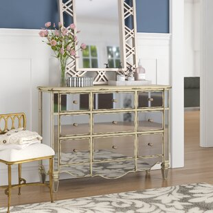 Elba Mirrored 3 Drawer Accent Chest
