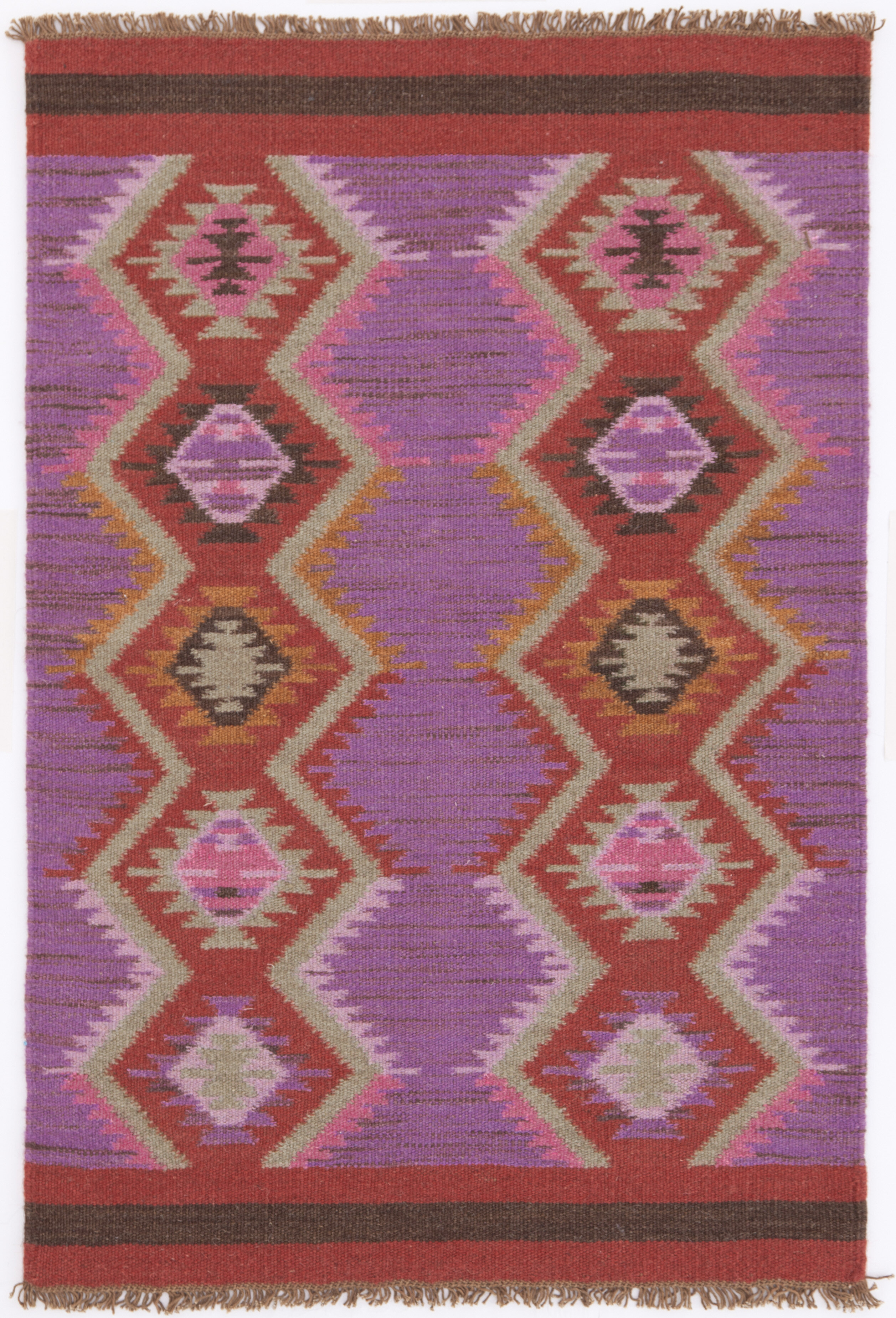 Dash And Albert Rugs Hand Woven Purple Red Area Rug Reviews Wayfair