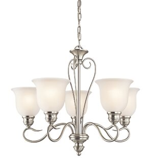 Alcott Hill Hertzler 5-Light Shaded Chandelier