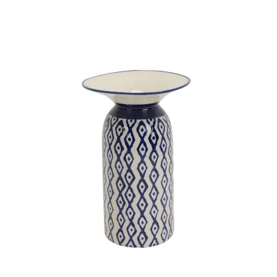 Highland Dunes Alsey Ceramic Diamond Pattern Table Vase Highland Dunes Size 10 H X 6 25 W X 6 25 D From Wayfair North America Shefinds