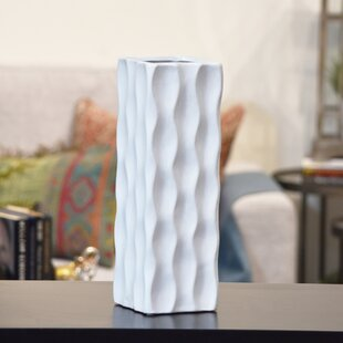 Ceramic Tall Square Table Vase