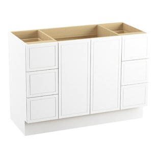Online Reviews Jacquard™ 48 Vanity Base Only with Toe Kick, 2 Doors and 6 Drawers, Split Top Drawers ByKohler