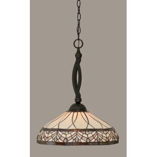 Astoria Grand Austinburg 1-Light Matte Black Mini Pendant