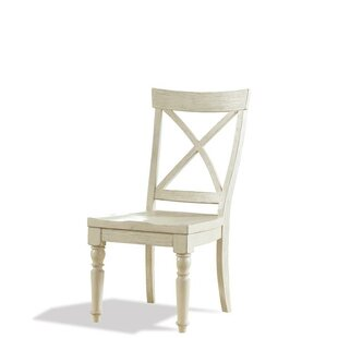 Lark Manor Arrellano X-Back Solid Wood Dining Chair (Set of 2)
