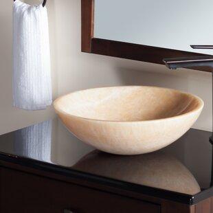 Best Stone Circular Vessel Bathroom Sink By Novatto