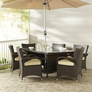 Berke 8 Piece Dining Set with Cushions by Brayden Studio