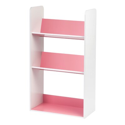 "3 Tier 41.69"" Book Cart Color: Pink by IRIS"