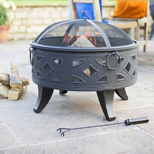 Zackary Steel Wood Burning Fire Pit By Sol 72 Outdoor