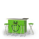 Addyston Christmas Grinch 5-Piece Bar Set