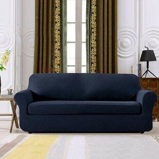 Plaid Stretch Box Cushion Sofa Slipcover by Winston Porter