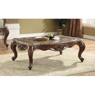 Rossville Scalloped Living Room Coffee Table