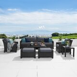Northridge 8 Piece Rattan Sofa Seating Group with Cushions