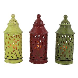 Daria Ceramic Lantern (Set of 3)