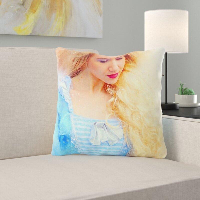 Ebern Designs Varga Girl Throw Pillow Wayfair