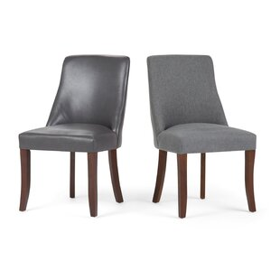 Bouie Deluxe Upholstered Dining Chair (Set of 2) Canora Grey