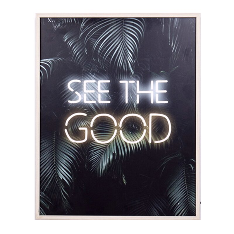 - Inspirational Sayings See the Good LED Light Box Wall Décor