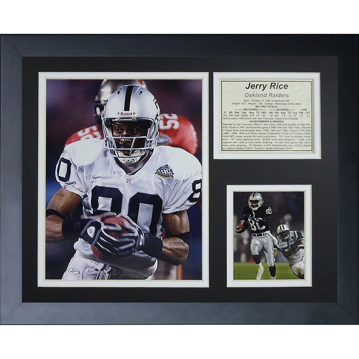 size 40 48405 e9cf4 Jerry Rice Oakland Raiders Framed Photographic Print