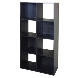 Modern Wood Stackable 8 Cube Bookcase