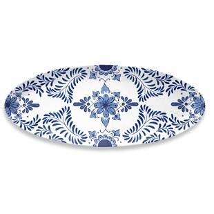 Eldert Oval Melamine Platter By Bloomsbury Market