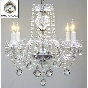 Kanode Swarovski 4-Light Candle Style Chandelier by House of Hampton
