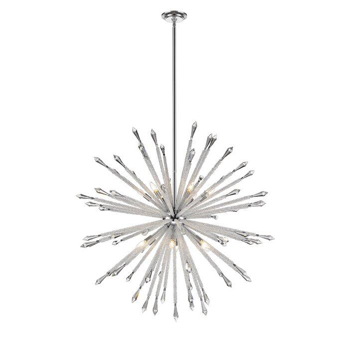 Pickering 12 Light Sputnik Chandelier
